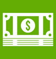 stack of money icon green vector image vector image