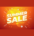 summer sale promotion banner design vector image