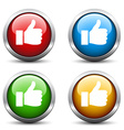 thumb up buttons vector image vector image