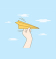 travelling business delivery startup flight vector image