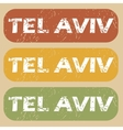 Vintage Tel Aviv stamp set vector image