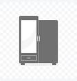 wooden wardrobe icon vector image vector image