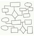 Abstract flowchart design vector image