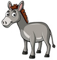 donkey with happy face vector image