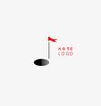 creative logo musical note vector image