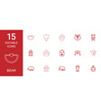 15 bear icons vector image vector image