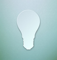 Abstract Paper Light Bulb vector image vector image