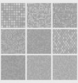 abstract seamless patterns of small elements vector image vector image