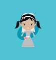 adorable bride lovely marriage cartoon theme vector image