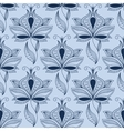 Airy lace indian blue floral seamless pattern vector image