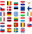 All flags of the countries of the European Union vector image vector image