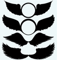 Angel wings and shield with wings vector image vector image
