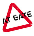 at gate rubber stamp vector image vector image