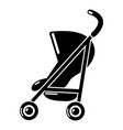 baby carriage simple icon simple black style vector image vector image