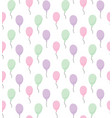 baloons pattern vector image vector image