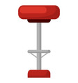 barstool with soft seat red chair isolated icon vector image vector image