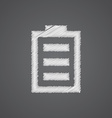 battery sketch logo doodle icon vector image