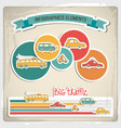 big traffic infographic vector image
