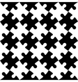 Black and white jigsaw puzzle mosaic seamless vector image vector image