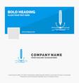 blue business logo template for design pen vector image