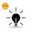 bulb lamp icon on white background vector image vector image