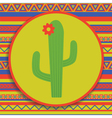 cactus on patterned background vector image vector image