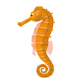 cartoon isolated orange comic seahorse vector image vector image