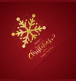 christmas background with glittery snowflake vector image vector image