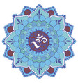 circle with om sign vector image