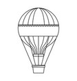 circus airballoon festival fly basket funfair vector image