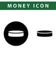 coin icon vector image vector image