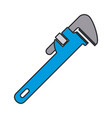 color image of pipe wrench tool vector image vector image