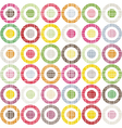 Colorful dots background vector image vector image