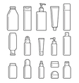 Cosmetic bottles Flat icons vector image
