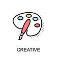 creative graphic icon vector image vector image