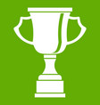 cup for win icon green vector image vector image