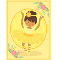 Cute Yellow Ballerina Girl vector image vector image
