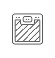 floor scales line icon vector image