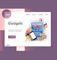 gadgets website landing page design vector image vector image