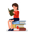 girl love to read books vector image