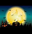 halloween night concept banner background vector image vector image