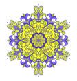 hand drawing entangle mandala element vector image vector image