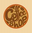 Hand Drawn Coffee Shop Logo vector image vector image