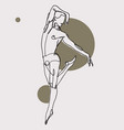 hand-drawn sketchy of a male ballet vector image