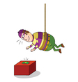 Hanging thief vector image vector image