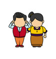happy grandpa and grandma standing lovely people vector image vector image