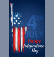 happy independence day 4th july vector image vector image