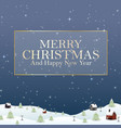 happy new year merry christmas 2019 and snow vector image vector image
