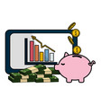 isolated money icon design vector image vector image