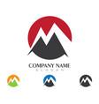 m letter logo template design vector image vector image